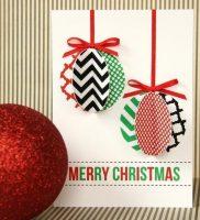 открытка с елочной игрушкой 4