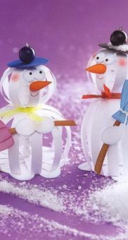 снеговик поделка6