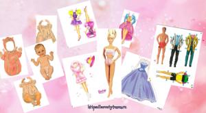 Бумажные куклы барби с одеждой